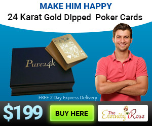 gold dipped cards